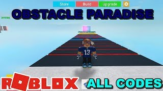 OBSTACLE PARADISE ROBLOX CODES