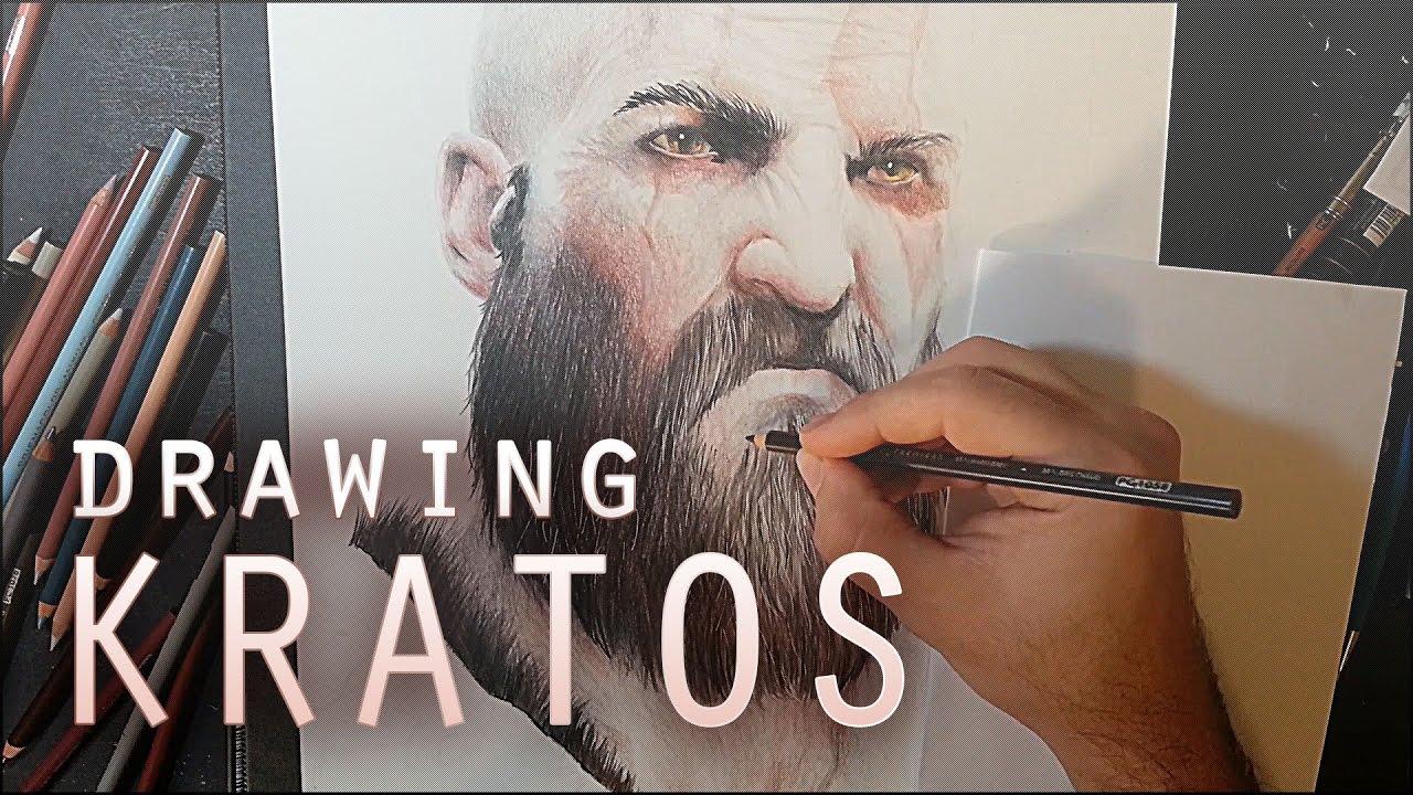 Pencil Drawing Desenhando Kratos New God Of War Fgdrawings