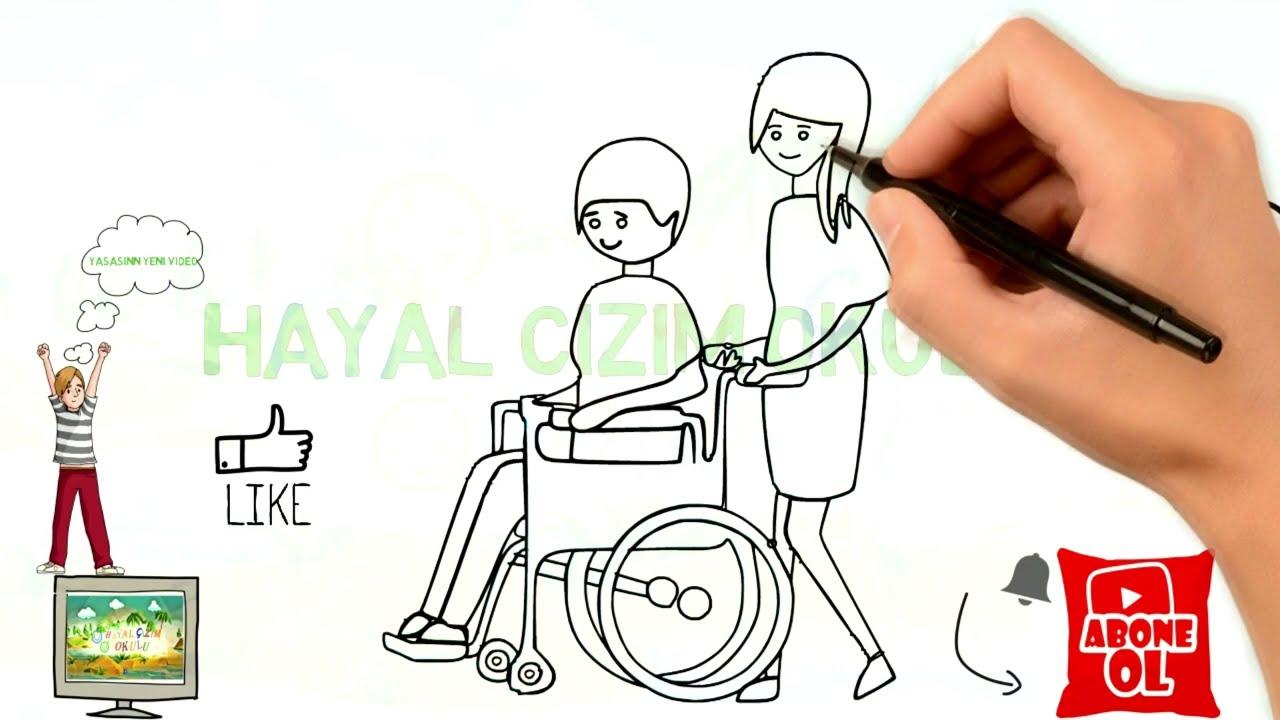Dunya Engelliler Günü Resim ödevi çizimi Etkinlik Youtube