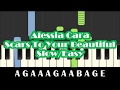 Alessia Cara - Scars To Your Beautiful SLOW Easy Piano Tutorial