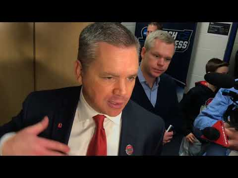 Chris Holtmann after Ohio State's NCAA Tournament win over South Dakota State