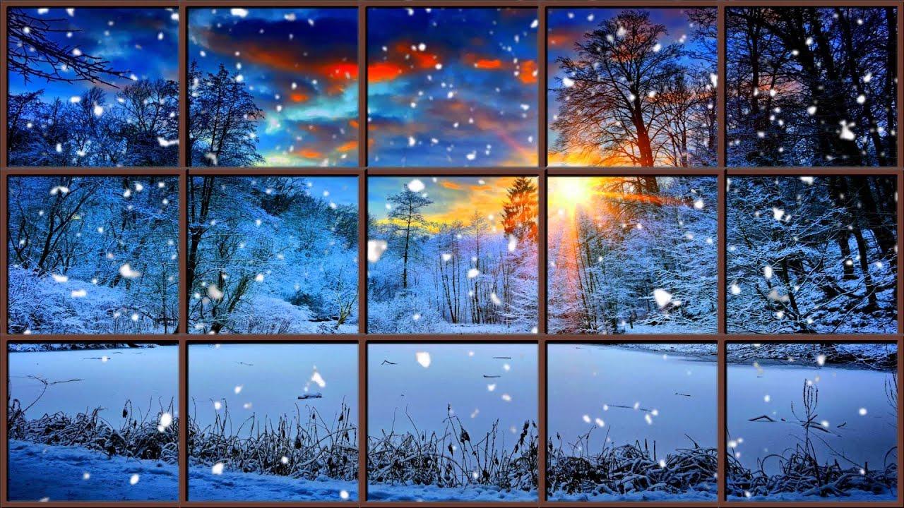 The best fireplace video 1 hours winter window fireplace for Sleeping with window open in winter