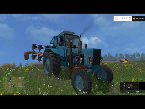 Farming Simulator 2015. Мод: МТЗ-82 Белорус. (Ссылка на мод в описании)