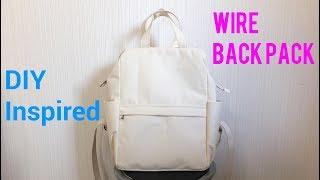 ワイヤーバックパックを作ってみました。*Wire back pack Inspired*
