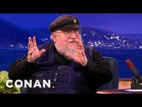 "George R.R. Martin Likes ""Game Of Thrones"" Fans To Be Afraid (skip to 56s)"