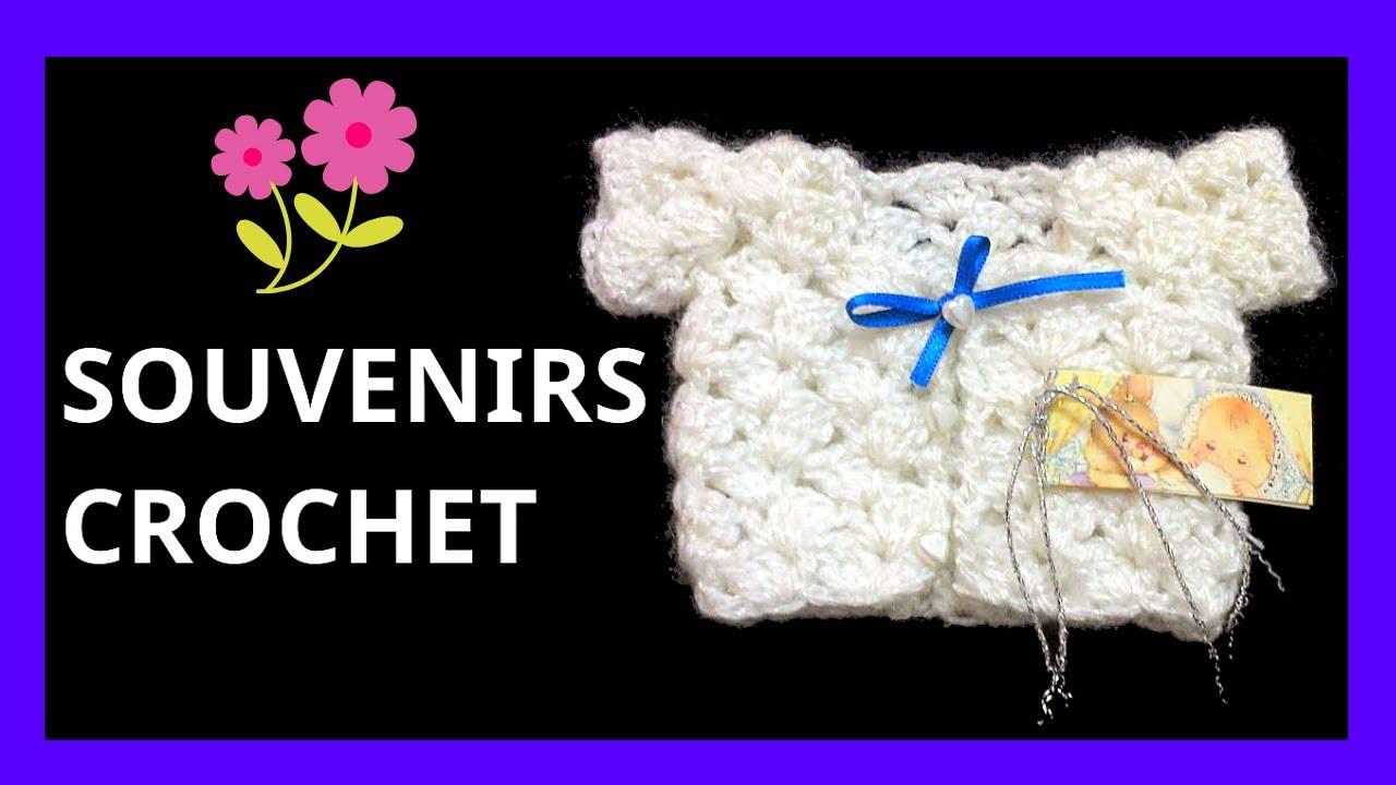 SOUVENIRS Modelo #saco para nacimiento bebe en tejido #crochet o ...