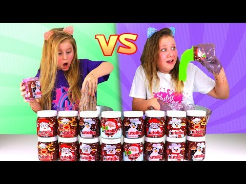 Don't Choose the Wrong Nutella Slime Challenge!!!