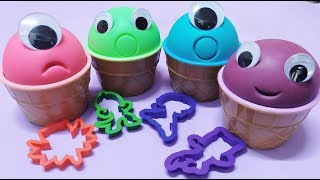 4 Colors Play Doh Ice Cream Cups The Avengers PJ Masks surprise toys Surprise Eggs