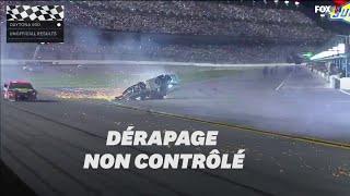 La course du Daytona 500 se termine par un accident spectaculaire