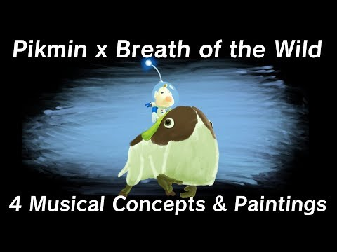 Pikmin x Breath of the Wild - 4 Musical Concepts & Paintings
