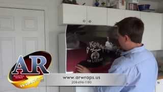 Refrigerator Wrap And How To Install - Rm Wraps