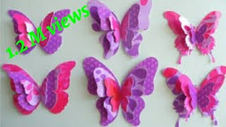 How to Make Easy, Beautiful Paper Butterflies for wall decorations. Paper Butterfly. paper butterfly