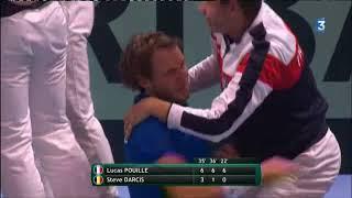 La joie des Français après leur victoire face à la Belgique en finale de Coupe Davis
