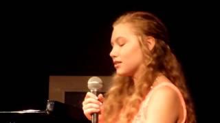 Elizabeth DeVoto 14 year-old singing at Jazz at the Bistro