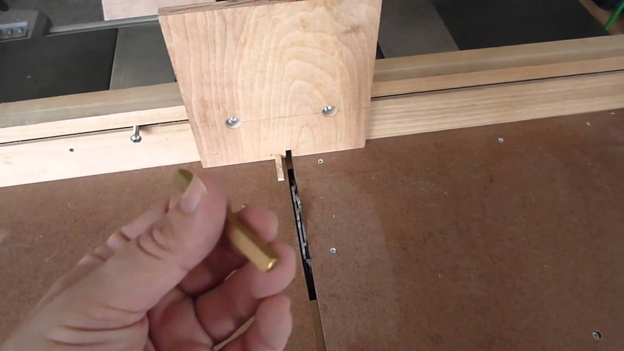 Box joint jig for the table saw sled & Box joint jig for the table saw sled - YouTube Aboutintivar.Com