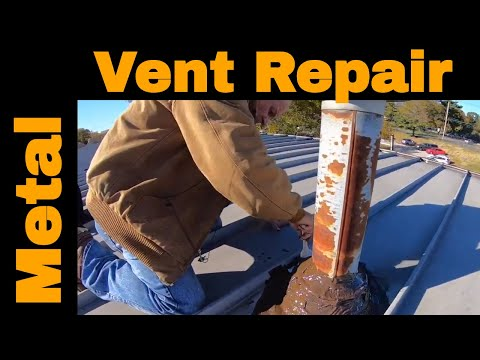 Metal roof vent pipe flashing leaking. How to repair it with Turbo Poly Seal