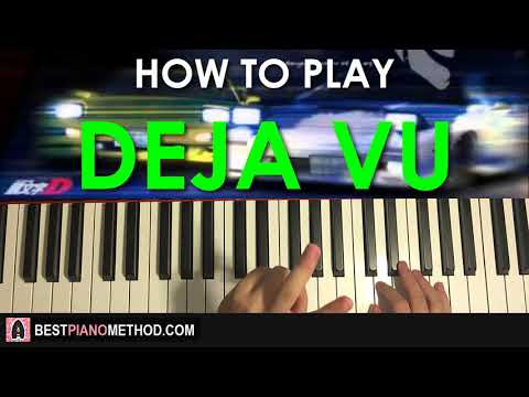 HOW TO PLAY - Initial D - Deja Vu (Piano Tutorial Lesson)