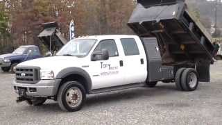 2005 ford f550 crew cab 4wd dump truck in pa