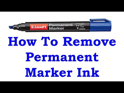 How To Remove Permanent Marker Ink