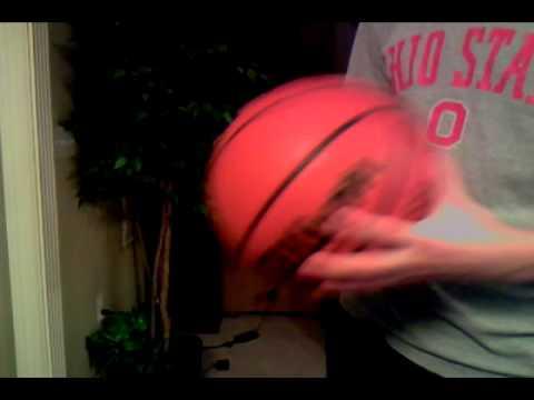 Easily Palming an NBA sized basketball!