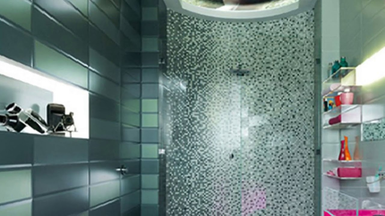 Glass Mosaic Bathroom Wall Tiles UK - YouTube