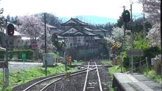 JR磐越東線 三春→郡山【キハ110系・前面展望】 2017.4.23