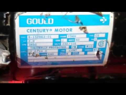 best to wire gould motor 230v to use less amps Leroy Somer Motor Wiring Diagram