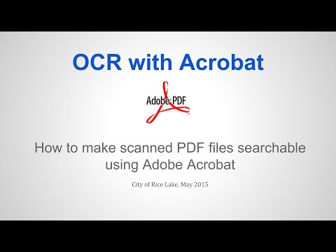 Creating searchable PDF files with Acrobat - YouTube