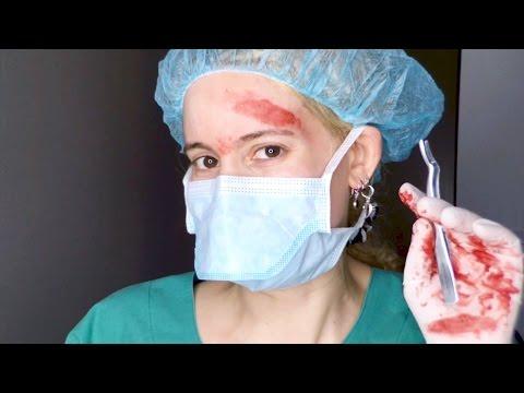 Easy Last Minute Halloween Costume: Bloody Mad Surgeon Makeup