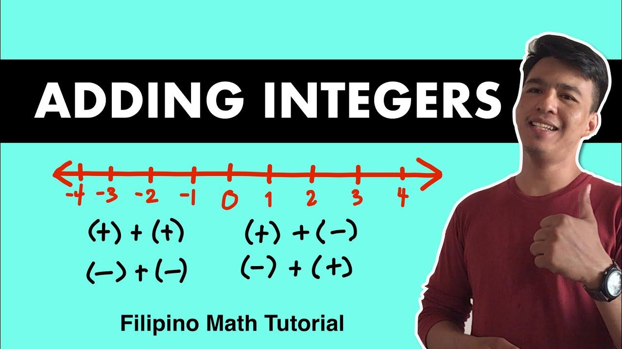 Adding Integers Step By Step Procedure To Master It Tagalog Filipino Math Youtube Adding integers super teacher