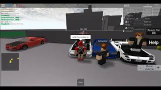 roblox sru carshow on the dealership roof
