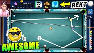8 Ball Pool- SENSATIONAL SHOT IN PARIS- Opponent Rages & Quits [Increasing Coins w/Aamir]
