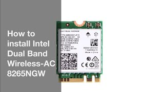 How to install Intel Dual Band Wireless-AC 8265 guide