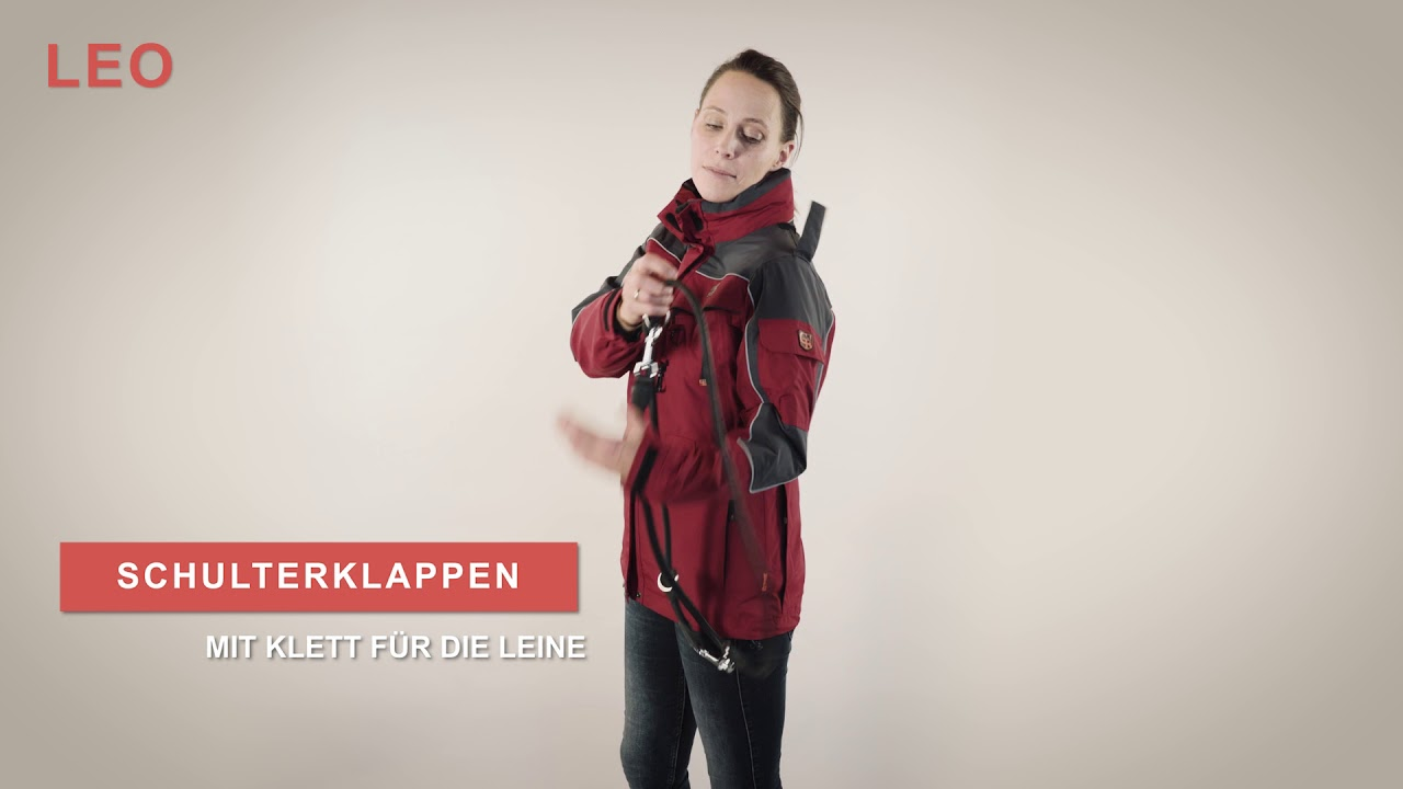 GOOD BOY! Damenjacke LEO in rot Hundehalter Outdoorjacken