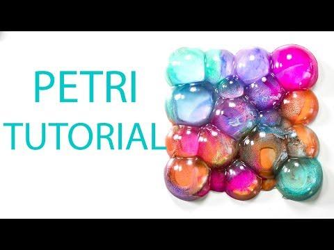 Bubbles Art Resin Petri Supernova Casting Alcohol Ink DIY Tutorial