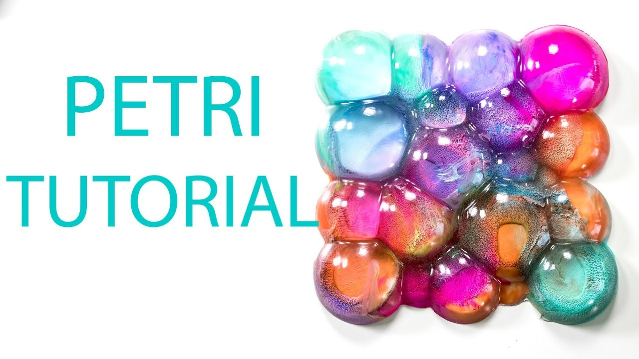 Bubbles Art Resin Petri Supernova Casting Alcohol Ink DIY Tutorial - Coloring resin with alcohol ink