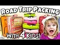Packing for a FAMILY ROAD TRIP with FOUR KIDS 🚙 Packing and Car Organization HACKS