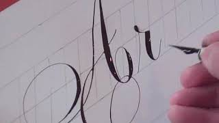 Repeat youtube video How to Write Copperplate