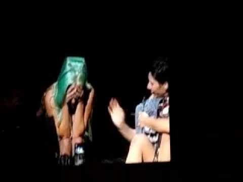 Little Monsters throwing phones, wallets and makeup at Lady Gaga, BTWB Sydney 20th June, 2012