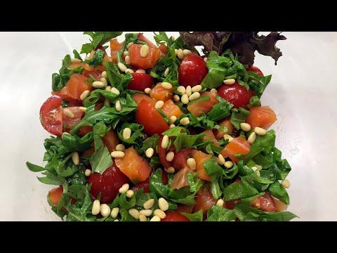 Вкусный салат с Лососем и Рукколой   Рецепт
