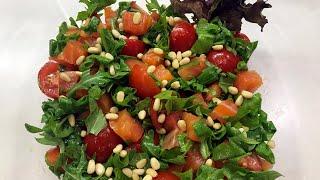 Вкусный салат с Лососем и Рукколой | Рецепт