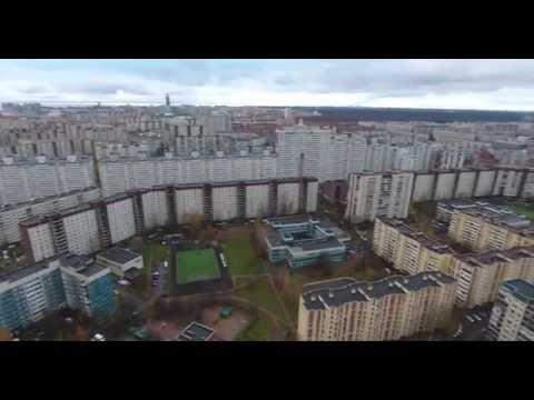 Озеро Долгое Приморский район Санкт-Петербург с высоты
