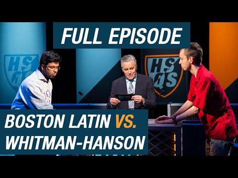 Boston Latin vs. Whitman-Hanson   Qualifying Round   High School Quiz Show (1104)