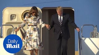 Donald and Melania Trump arrive in Japan for an official visit