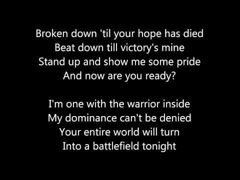 DISTURBED - warrior lyrics.