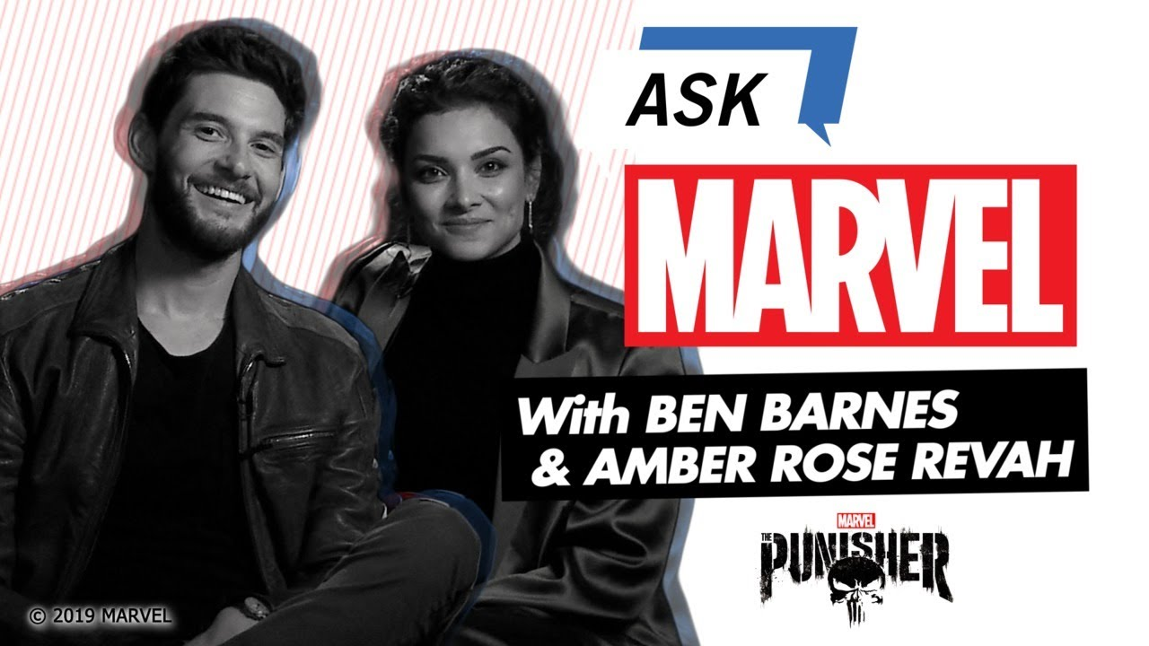 The Punisher's Ben Barnes and Amber Rose Revah | Ask Marvel