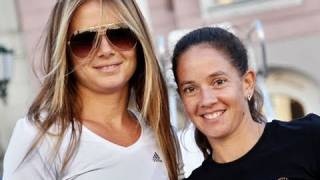 Daniela Hantuchova and Patty Schnyder - Sony Ericsson Street Tennis - Linz 2010