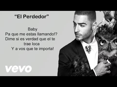 Maluma - El Perdedor (Video con letra/lyrics) Official Reggaeton
