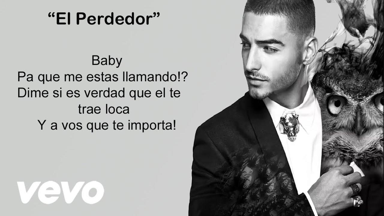 Maluma El Perdedor Video Con Letra Lyrics Activar Subtitulos