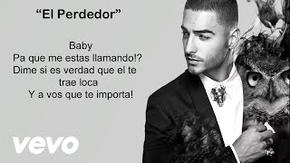 Maluma - El Perdedor (Video con letra/lyrics-Activar Subtít...